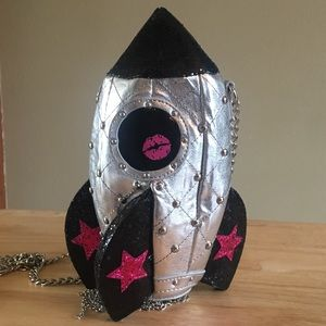 BETSEY JOHNSON space rocket crossbody purse